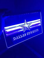 NFL Dallas Cowboys LED Neon Sign for Game Room,Office,Bar,Man Cave. NEW!