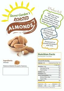Whole Natural Roasted Almond, Packed in Resealable Bags