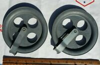 Vintage Berkeley Evr-Last No. 5 Metal Pulley's (2) Made in USA