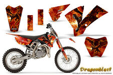 KTM SX85 SX105 2004-2005 GRAPHICS KIT CREATORX DECALS DRAGONBLAST NP
