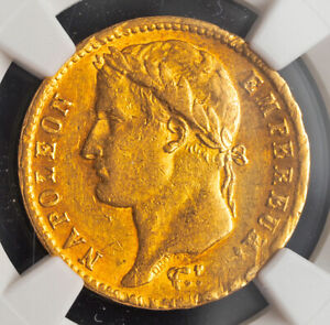 1811, France (1st Empire), Napoleon I. Gold 20 Francs Coin. (6.43gm!) NGC AU-58!