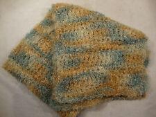 "Short Soft Scarf Scarve Shawl Wrap Winter Multi Color Blue Knit Wool Feel 33"""