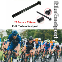 Carbon MTB Road Bike Bicycle Seat Ultralight Seatpost Post Tube 27.2mm