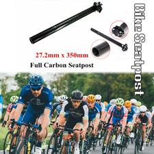 Carbon MTB Road Bike Bicycle Seat Ultralight Seatpost Post Tube 27.2mm
