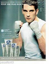 PUBLICITE ADVERTISING 116  2004   Adidas cremes soins de peau homme Skibnkare