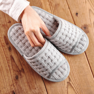 Soft Non Slip Washable 100% Cotton Slippers, Indoor, Comfy, Made in Korea