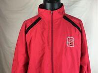 NC State Wolfpack North Carolina State University Red Windbreaker Jacket XXL