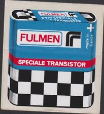 PUBLICITE AUTO-COLLANT STICKER VINTAGE BATTERIE FULMEN SPECIALE TRANSISTORS