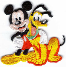 MICKEY MOUSE & PLUTO EMBROIDERED PATCH !