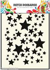 A5 Dutch Doobadoo Mask - Stars - Stencil - Embossing - 014 - New
