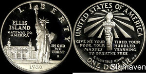 1986 S Statue of Liberty Silver Dollar Gem Proof No Reserve