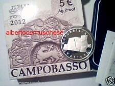 5 euro Italia 2012 argento proof BE PP CAMPOBASSO Italie Italy Italien Arti Arts
