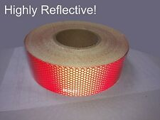 """DOT 2"""" Red Construction Tape 50 Yard Roll Highly Reflective trailer rv camper"""