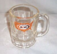 "Vintage AW Root Beer Mini U.S MAP Logo A&W Original Authentic 3"" Tall Baby Mug"