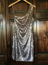 NV Couture One Shoulder Glitter Sequin Party Short Dress Size 10