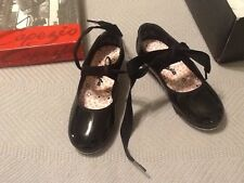 New Capezio Jr Tyette TeleTone Tap Shoe Toddler Black in diff sizes N625T