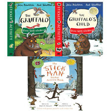 Gruffalo's Child Sticker Book & Stick Man Collection 3 Books Set Julia Donaldson