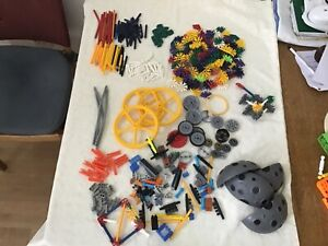 Knex bundle & box good variety of pieces over 1.5 kg steam sanitized