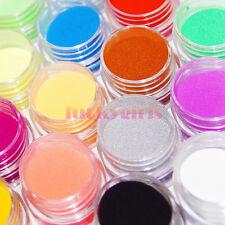 12 Pcs Colors Liquid Crystals Carving Powder Dust Acrylic Tip Kit Decoration Set