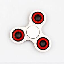 Tri-Spinner Fidget Hand Finger Focus Toy EDC Pocket Desktoy ADHD Gift White&Red