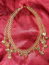 RENAISSANCE FAIR CHAIN MAIL NECKLACES LOT OF TWO STUNNING! AMBER BEAUTIES.