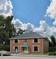 3781 Walthers Cornerstone Four-Unit Brick Apartment Building HO Scale