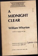 A MIDNIGHT CLEAR-WILLIAM WHARTON-UNCORRECTED PROOF COPY (ADVANCE 1ST)-1982