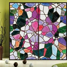 Retro Colorful Window Films Frosted Privacy Glass Door Home Decor 50*100CM Arts