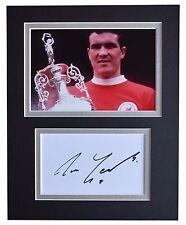 Ron Yeats Signed Autograph 10x8 photo display Liverpool Football AFTAL & COA