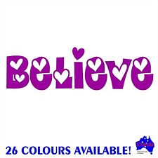 BELIEVE vinyl sticker wall,window,bathroom,home decor quotes,car,caravan decal.