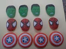Avengers  Hulk Captain America Spiderman Inspired Cupcake Topper fondant