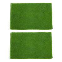 2 stück Dekor Grasmatte Rasen für Modellbau Landschaftsbau 20x30x0.5cm