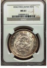 J114 Japan Meiji 36 silver Yen 1903, NGC MS61. Y-A25.3