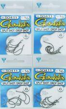 (4) Gamakatsu Packs 1/0 Split Shot/Drop Shot Fish Hooks 50411