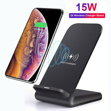 For Samsung S10 Huawei P30 Pro 15W Qi Wireless Fast Charger Charging Stand Dock