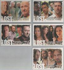 Lost Seasons 1-5 - SDCC 2009 5 Card Promo Set #P1-P5