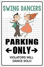 """*Aluminum* Swing Dancers Parking Only 8""""x12"""" Metal Novelty Sign  NS 529"""