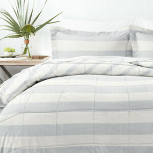 Home Collection Down Alternative Distressed Stripe Reversible Comforter set