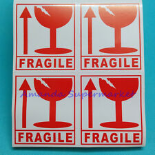 Red Fragile Warning Label Sticker Handle With Care Sticker 300pcs 80x90 mm