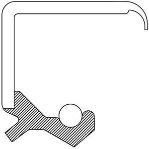 Power Steering Pump Shaft Seal National 710251