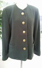 Lampert By Admyra Bottle Green Wool Coat Size 14. 20% Cashmere 65% virgin wool