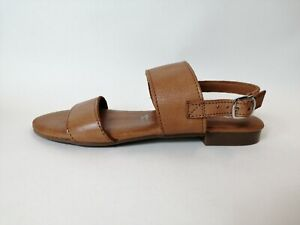 Tamaris UK size 6 tan soft leather sandals, brand new in box