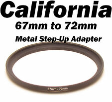 Metal 67mm-72mm Step-Up Lens Filter Ring Adapter Canon Nikon Sony Pentax 67- 72