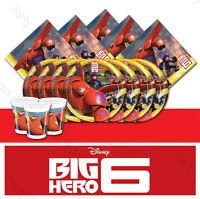 Big Hero 6 Six Baymax Birthday Partyware Tablecloth Plates Cups Napkins Loot Bag