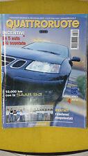 QUATTRORUOTE Ottobre 2002 Mini Cooper automatica  Saab 9-3 Sport sedan 2.0
