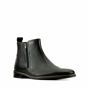 Mens Clarks Stanford Zip Smart Casual Dress Chelsea Leather Boots Size UK 9.5