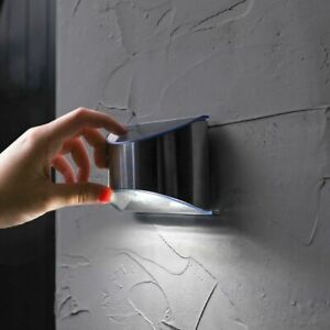 Solar Power Outdoor LED Security Welcome Fence Wall Light | Stainless Steel