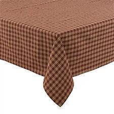 "Country Primitive ""Sturbridge"" Wine /Burgundy Plaid Table Cloth 54""x54"""