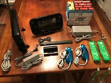 Nintendo Wii U 32GB Black Console with 10 games and 2 extra controllers