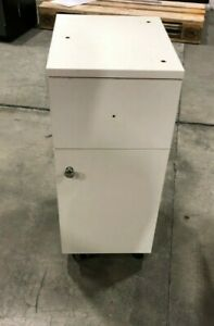 WHITE DRAWER CABINET Upcycling Furniture Project Bedside Table Wheeled Cupboard